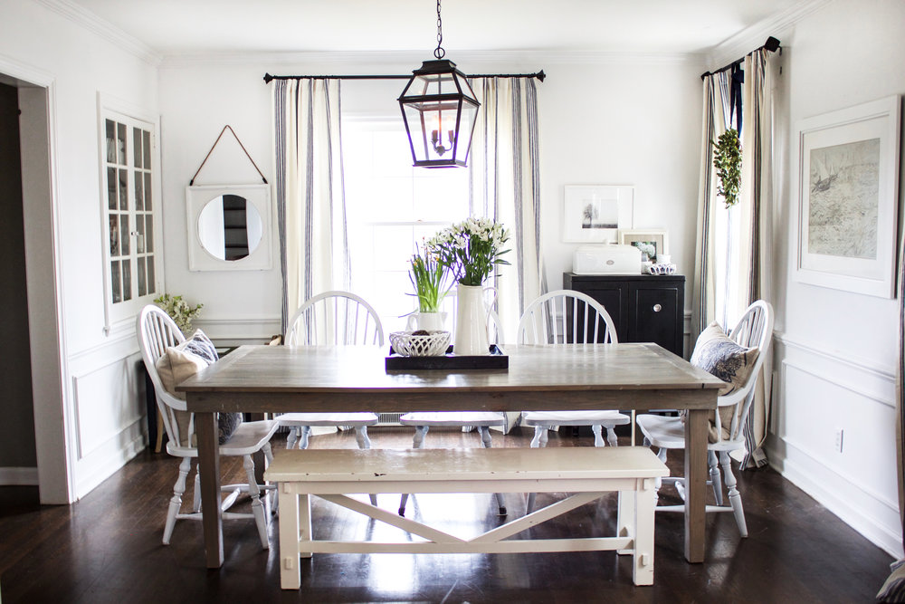 White Dining Room Reveal — The Fat Hydrangea