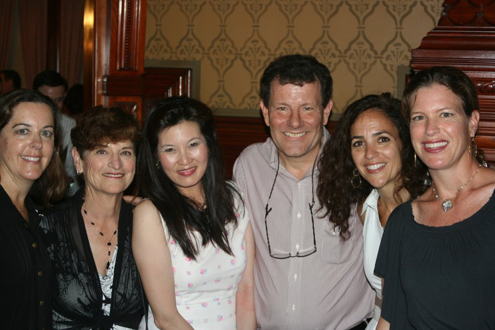 Trish, Eva, Sheryl WuDunn, Nicholas Kristof, Stephanie and Kim