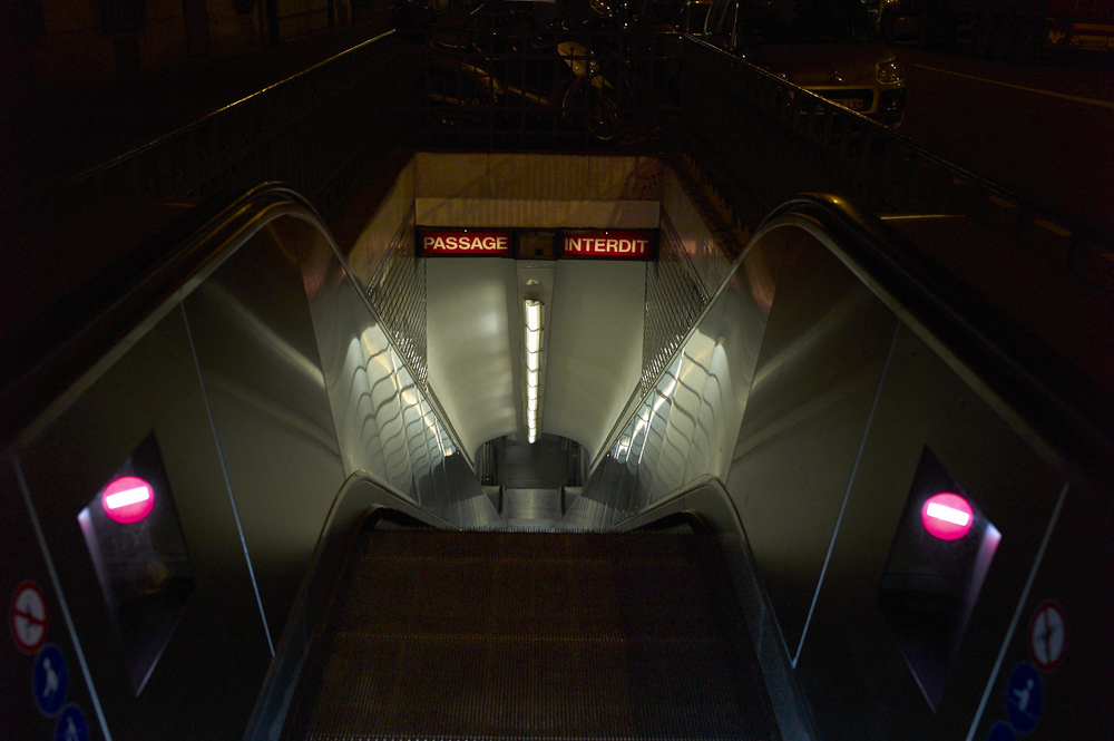 Paris metro, underground