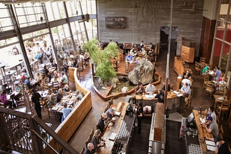Stone Brewing - Enjoy a meal and a pint and choose from 36 delicious craft brews on tap. We recommend the Stone Delicious IPA. Relax on the open air patio or meander through the peaceful one acre organic beer garden.