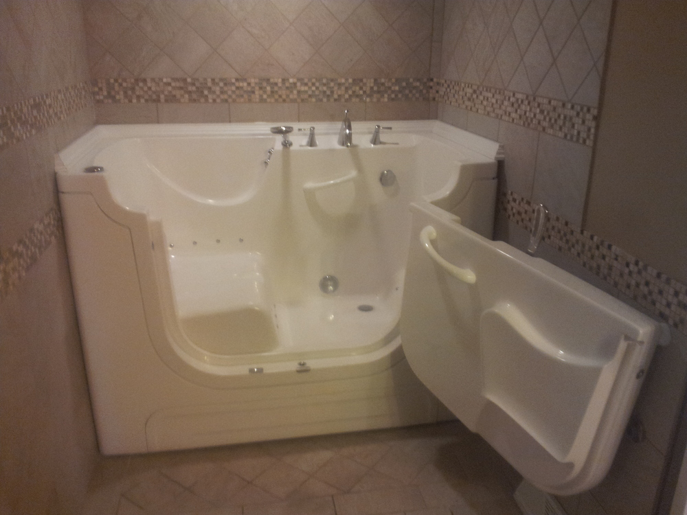 Opened Wheelchair Accessible Tub