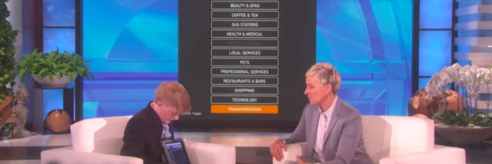 Ellen Degeneres gives Alex Knoll $25,000 for Ability App