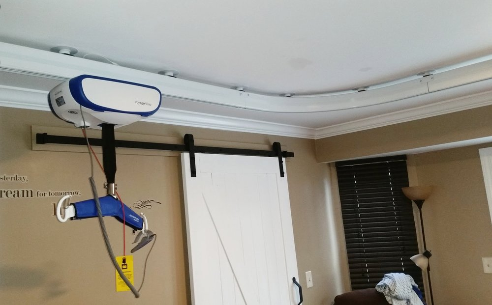 Arjo Huntleigh Ceiling Lift System installed by BFA, LLC.