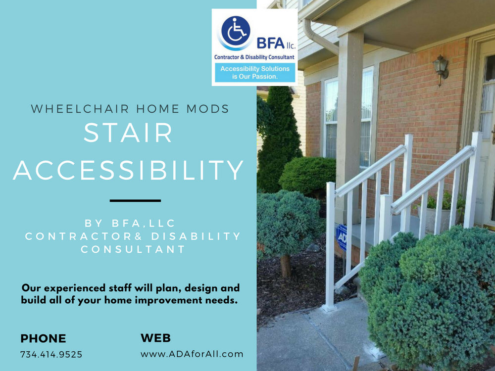 Enjoy all the freedoms in and out of your home, call BFA, llc for more information (734) 414-9525