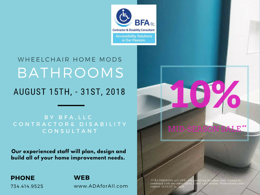 Do you have any questions for our team?   Comment below or feel free to give us a call at (734)414-9525    #shower   #safety   #grabbars   #michigan   #bfallc   #home  #accessibility   #ageinplace   #senior   #care    #ada   #  adaforall.com ,  #BFAllc , #accessible ,  #accessibility  #wheelchairaccessible   #disability  #seniors  #veterans   #als   #ms  #multiplesclerosis  #familybusiness   #roll inshowers #accessiblehome   #bfallc   #accessibility  #adaforall   #aginggracefully   #aginginplace  #sandwichgeneration   #senioradults  #homesafety