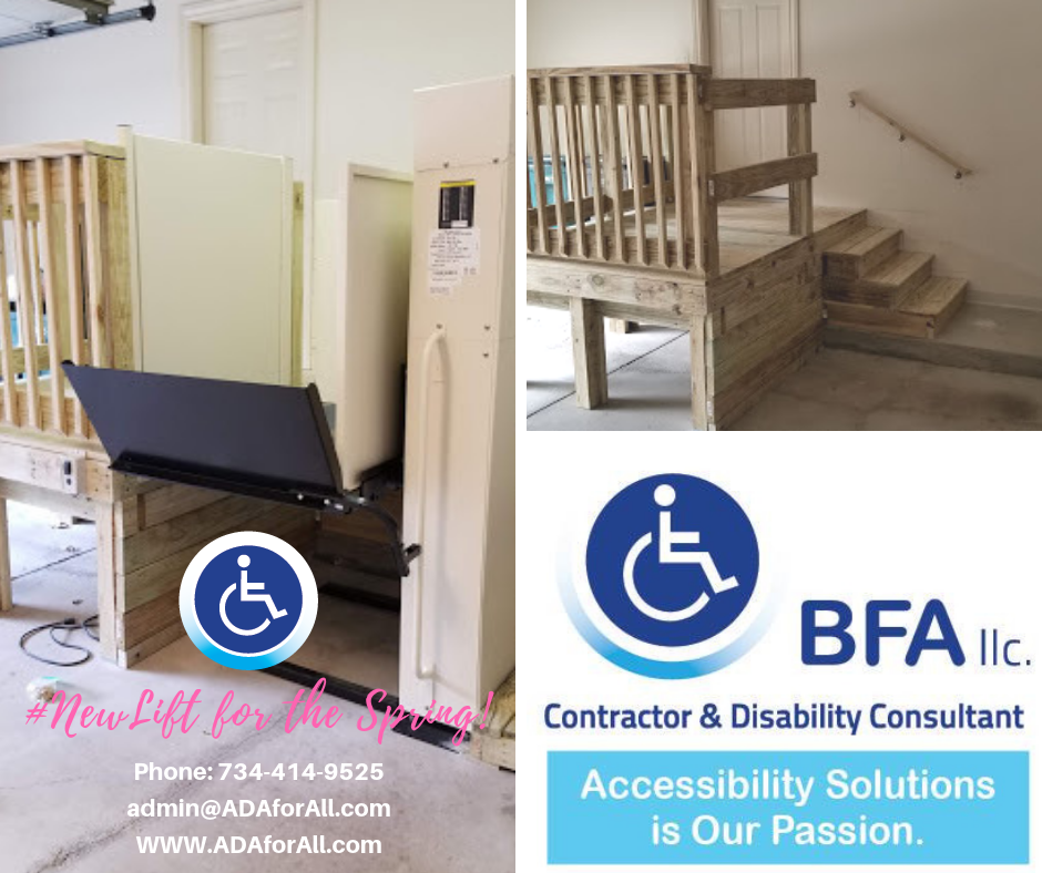 Looking for an accessibility solution?  Our highly trained team of accessibility specialists will go to your home and give you a free consultation with no obligation to buy anything.  Call us today at 734-414-9525 to schedule yours!