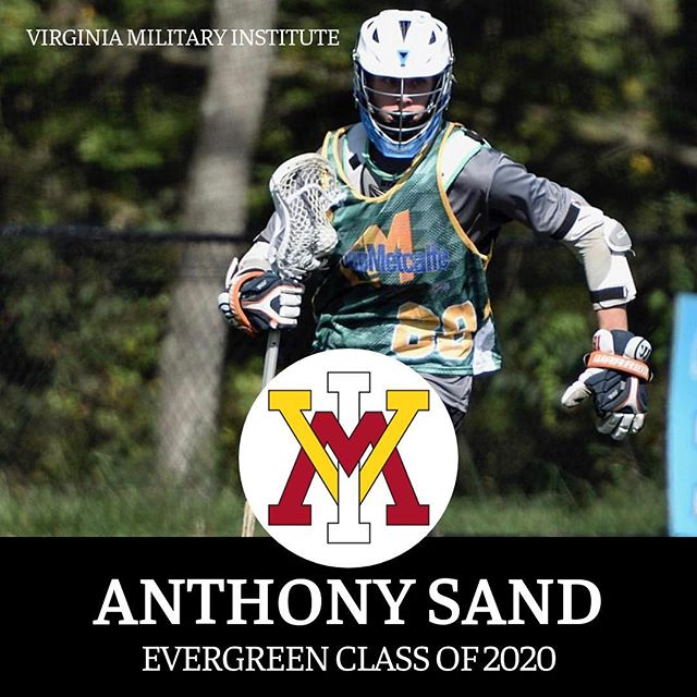Big congratulations to Anthony Sand (Evergreen 2020) on his decision to further has academic and athletic career at DI VMI! We are extremely proud of how hard you have worked and are so pumped to see you achieve your goals. Keep up the good work, crush it this Spring and see you this Summer! #EvergreenLax #HammersLax #CollegeLax #VMI