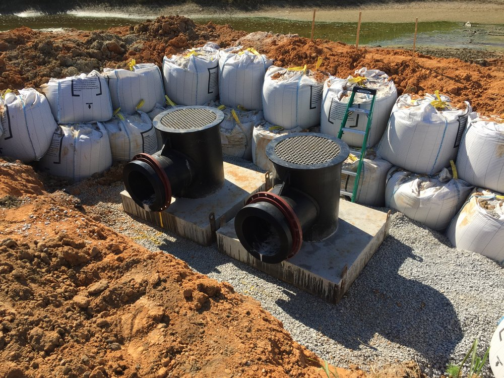 Stormwater Emergency Overflow Dam Installation