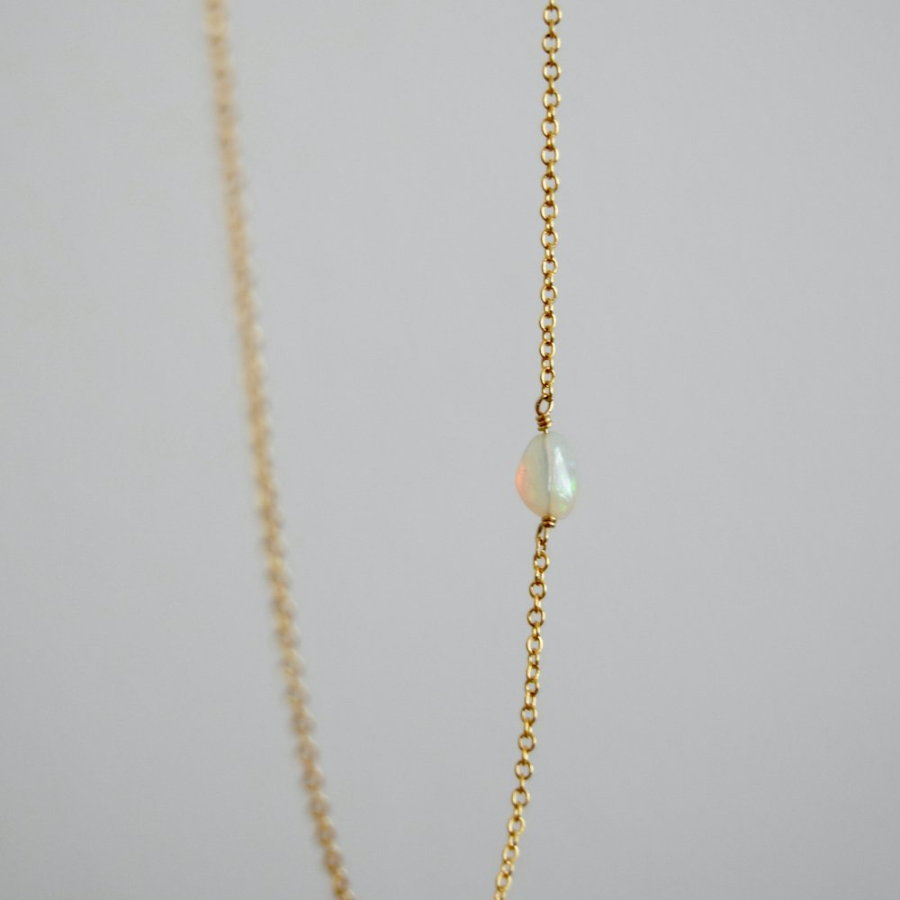 Pictured:  Gold Opal Necklace