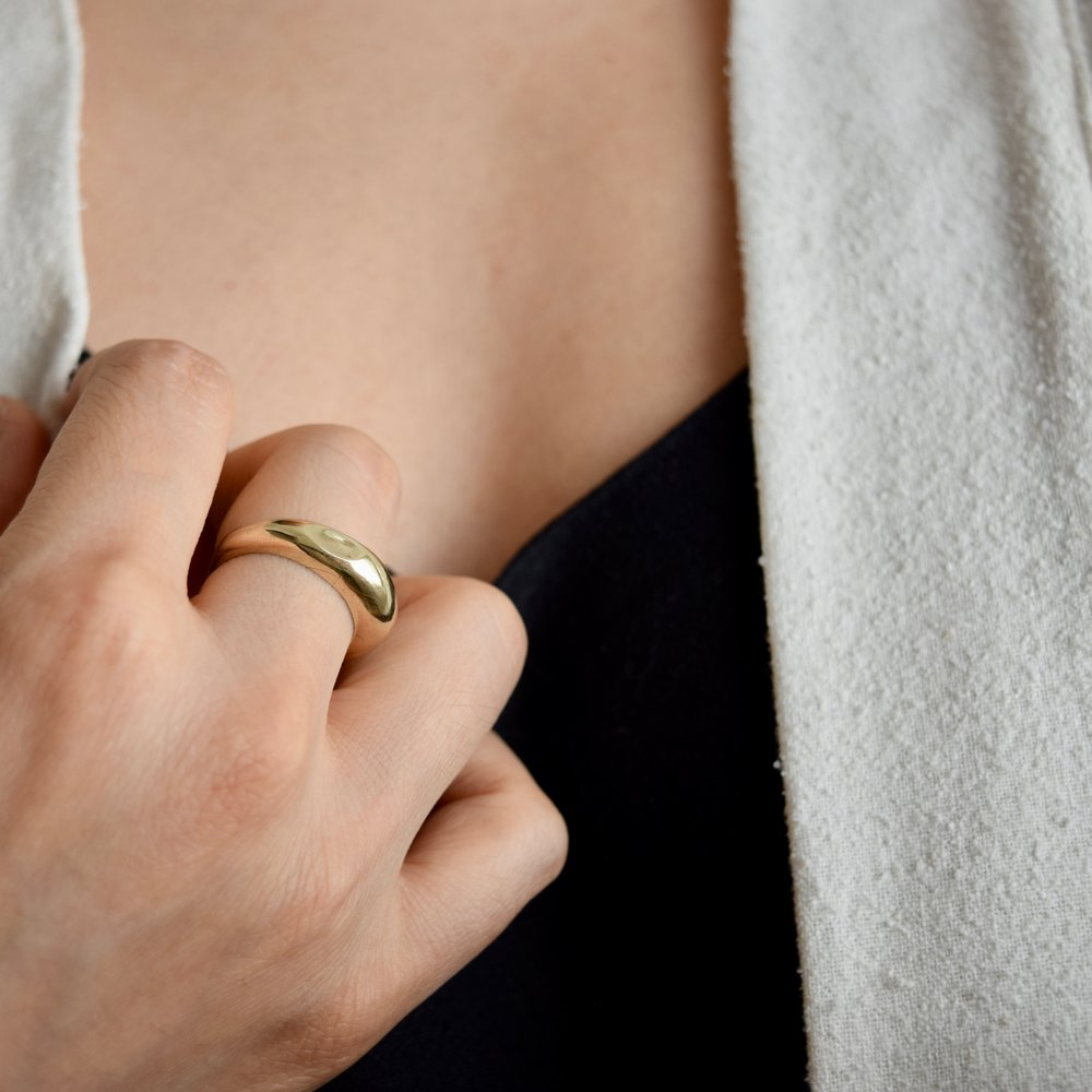 A statement ring that inspires tranquility in the midst of a busy day.
