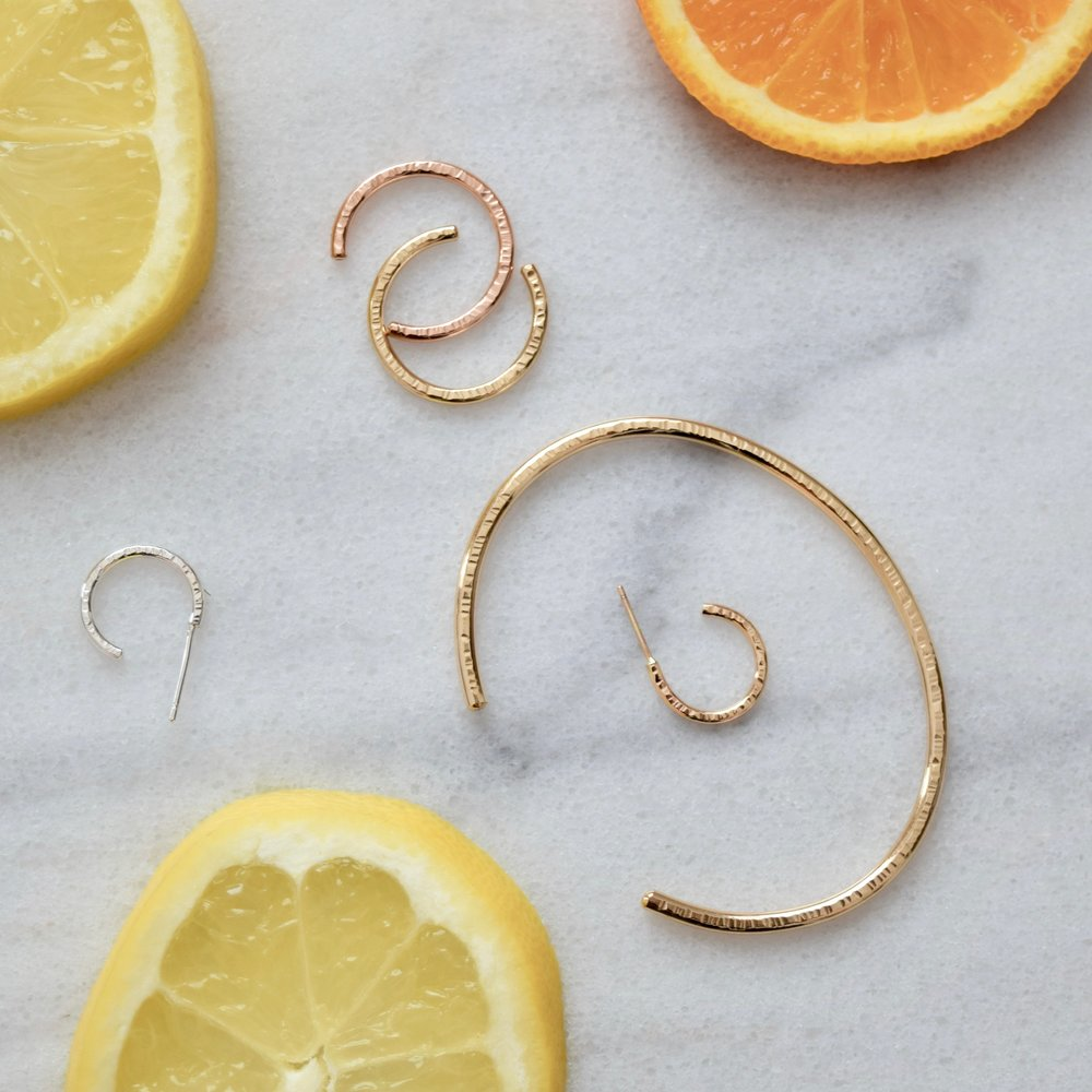 Pictured:  Sabi Cuff ,  Sabi Ring Cuff  and  Sabi Hoops
