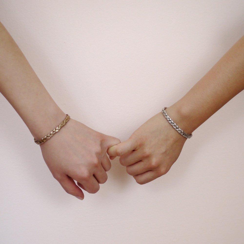 These matching besties friendship cuff.