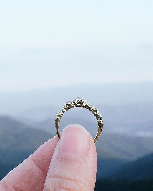 G-I-V-E-A-W-A-Y I created this mountain ring as a reminder that we are so much more capable than we may give ourselves credit for. In my case, it was hiking for 10 hours up and down a mountain even though I was a city girl who didn't own any sneakers (true story!). Or switching from financial services to jewelry design through trials and errors and hard work. . Now I want to hear from you! What challenge are you trying to overcome to get to where you want to go? . To enter to win our Journey On Mountain Ring (sterling silver, any size), simply: ⛰Tell us what challenge you're taking on or what you're working towards 👯‍♀️Tag your friends who have been cheering you on . That's it! I'll draw a winner by Monday. Happy weekend! ❤️