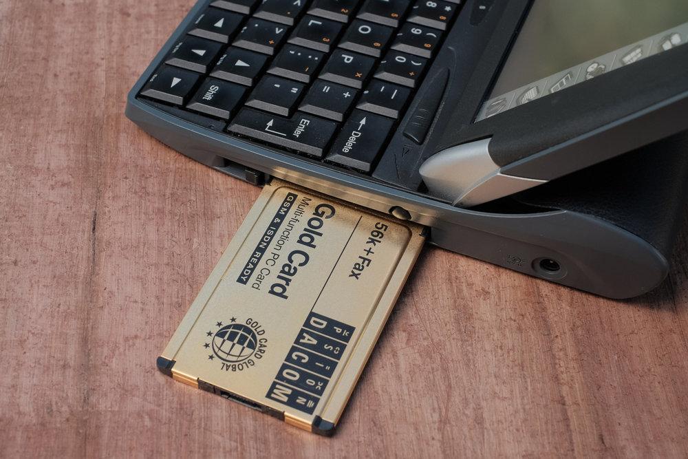 And a PCMCIA modem - 56KBPS!