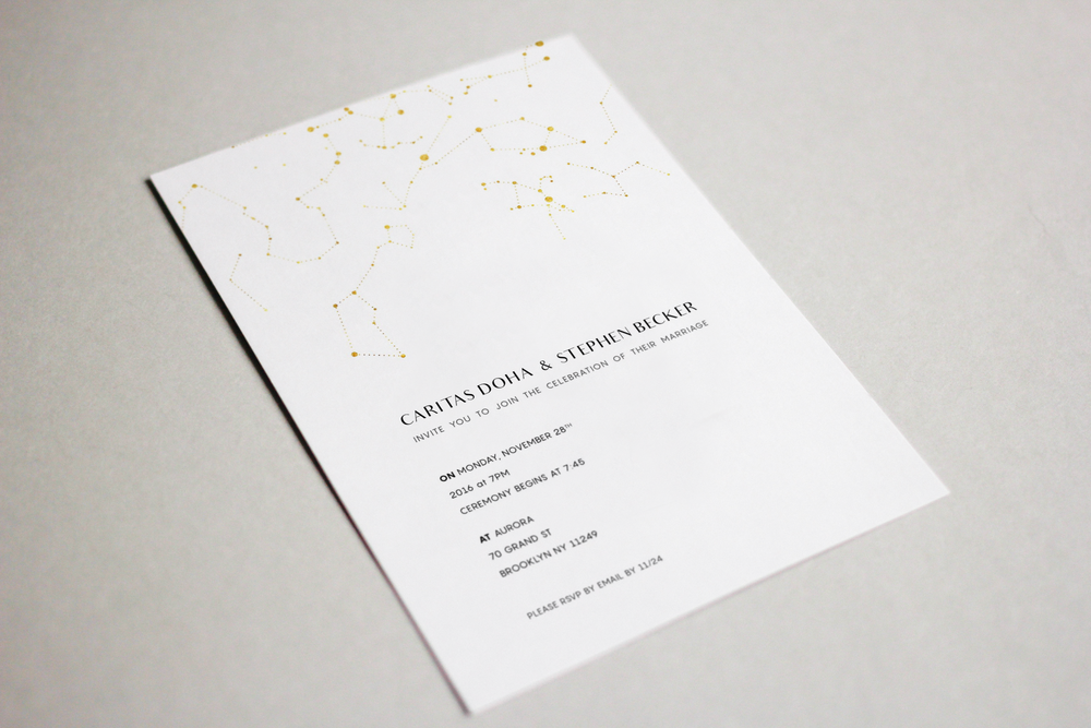 Caritas & Stephen's Wedding Invitation