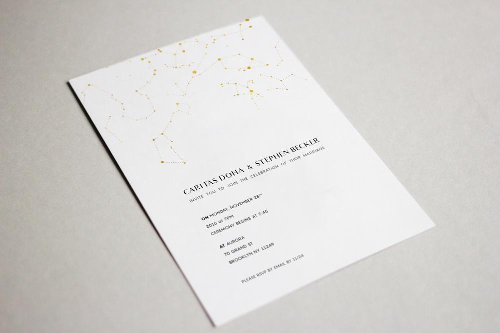 Caritas & Stephen's Wedding Invitation