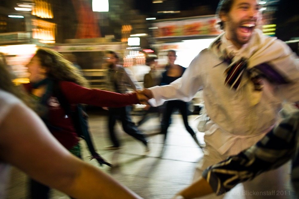 #occupywallstreet anti-Semitic? Israeli dancing following Yom Kippur services across from Liberty Plaza, 10/7/11