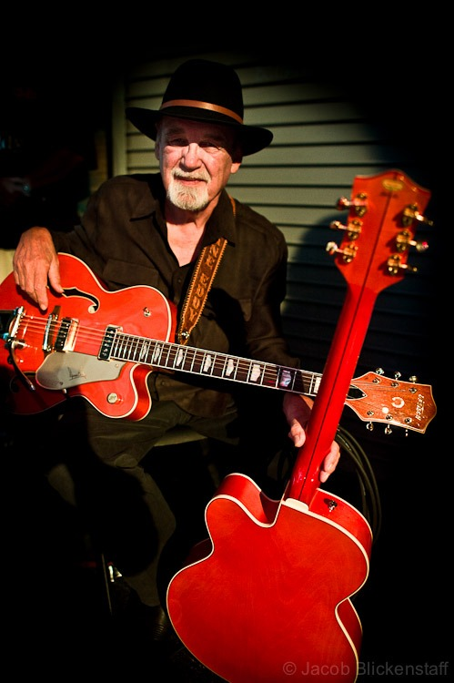 The great Duane Eddy sits waiting in the wings before performing at the Ponderosa Stomp in New Orleans, 2010.