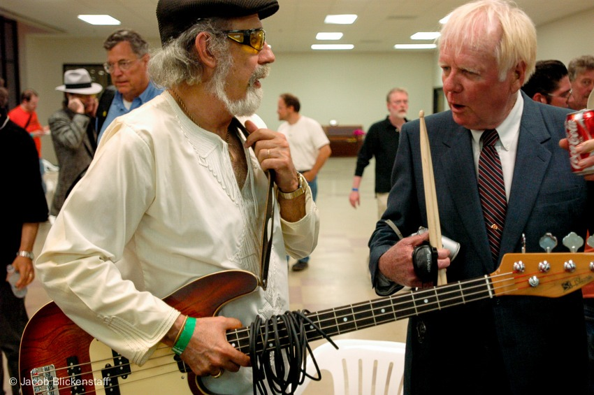 B.B. Cunningham, in 2006 at the @ponderosastomp - Backstage with Matt Lucas. RIP.