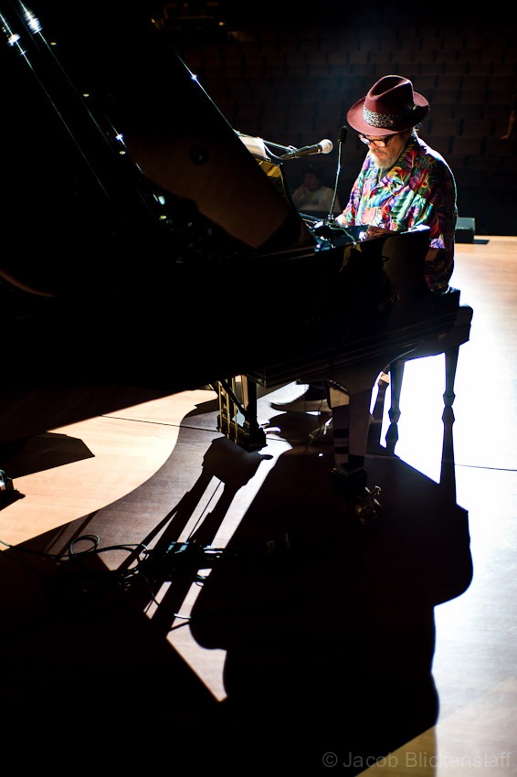 Dr. John during a rehearsal at Lincoln Center in 2009 for a Wardell Quezergue tribute concert.