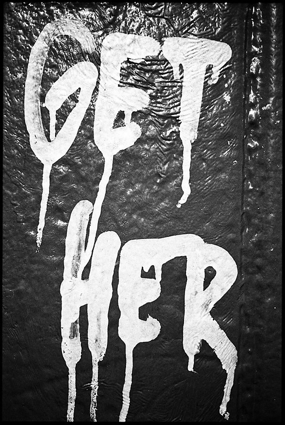"""GET HER"" Subway graffiti, NYC"