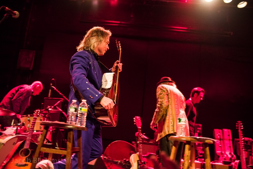 Jim Lauderdale and Buddy Miller leave the stage at the Bowery Ballroom