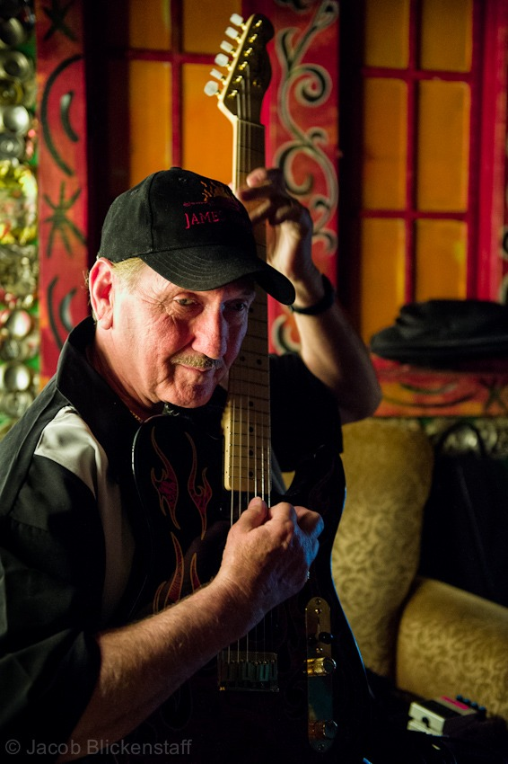 James Burton tuning in and tuning up…