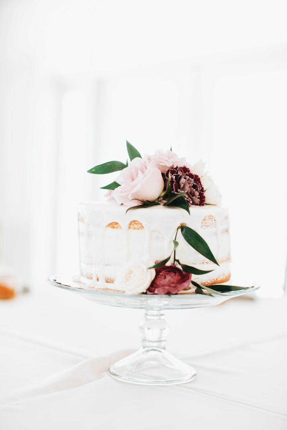 Public naked Cake with donut drip