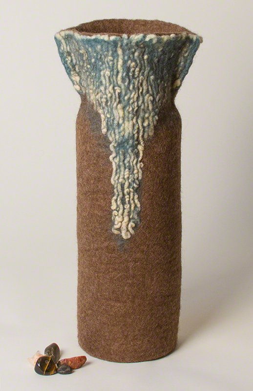 Wet Felted Vessel by Karen Waters