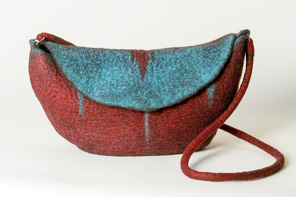Wet Felted Handbag - Sold