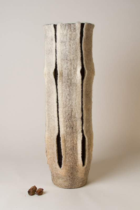 'Reach' - Wet Felted Vessel by Karen Waters