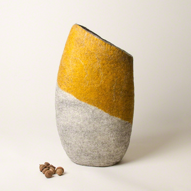 'Citrine Dream' - Wet Felted Vessel by Karen Waters