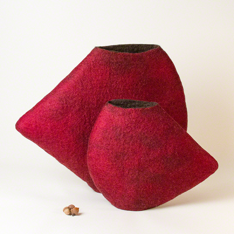 'Juxtapose' - Wet Felted Sculpture by Karen Waters