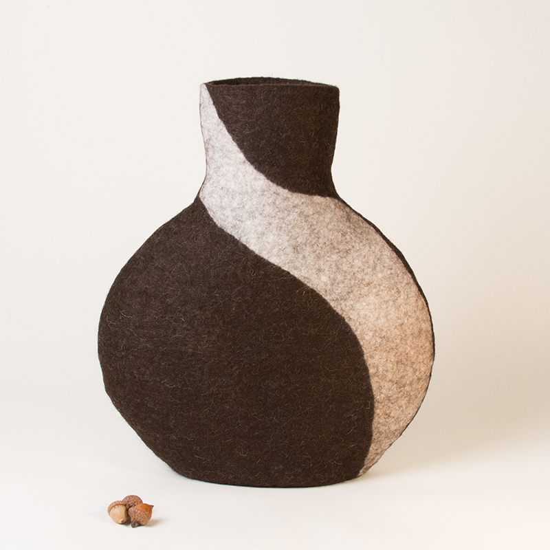 'Learning Curve' - Wet Felted Sculpture by Karen Waters