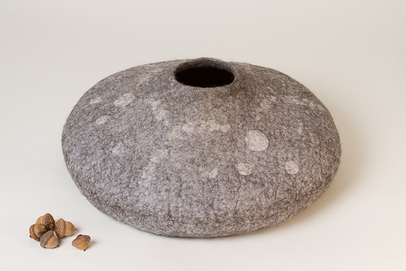 'Round and Round' - Wet Felted Sculpture by Karen Waters