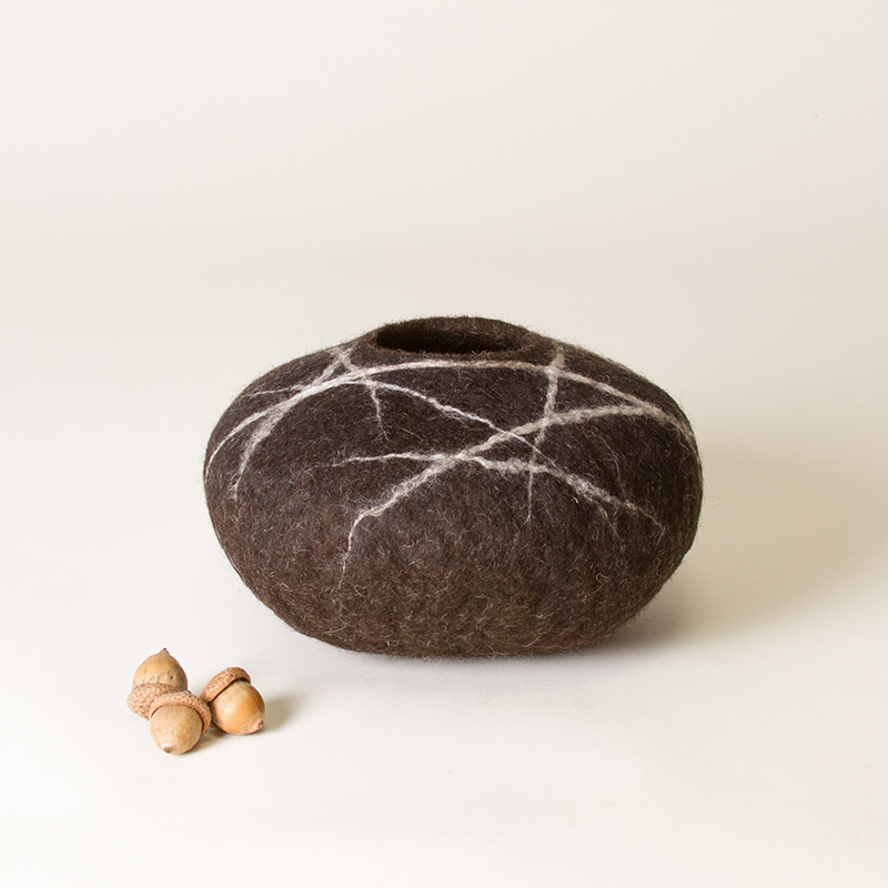 Wet Felted Pod by Karen Waters