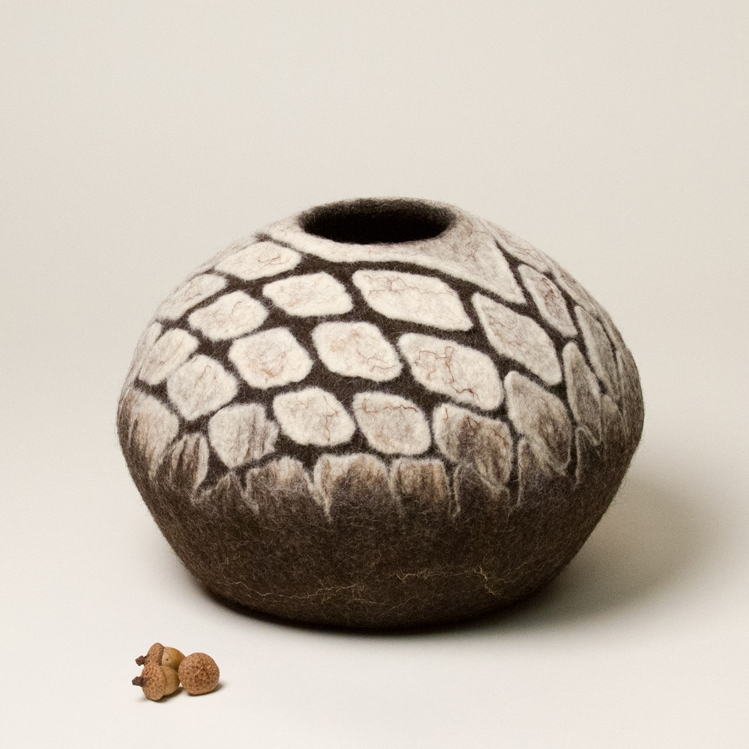 Sculptural Wool Vessel by Karen Waters