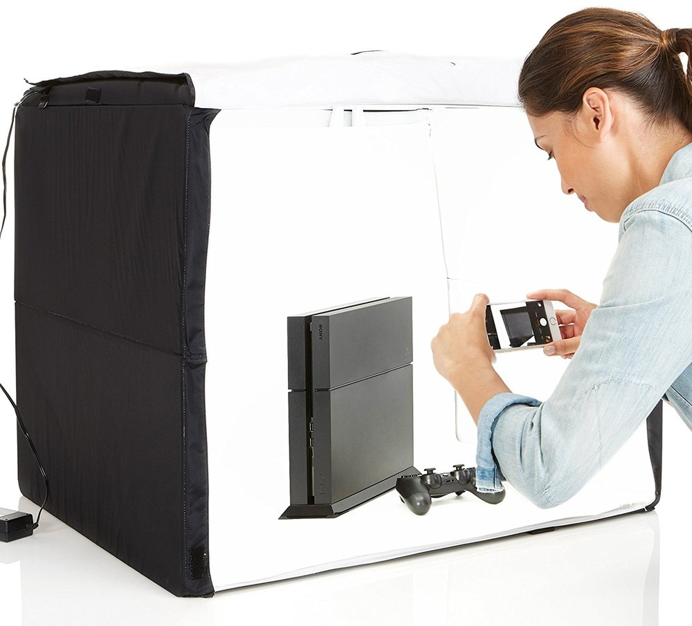 AmazonBasics Portable Photo Studio. (This image is from the Amazon site.)