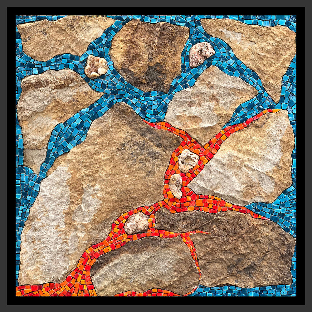 "Homage To Kilauea   12"" x 12"" 