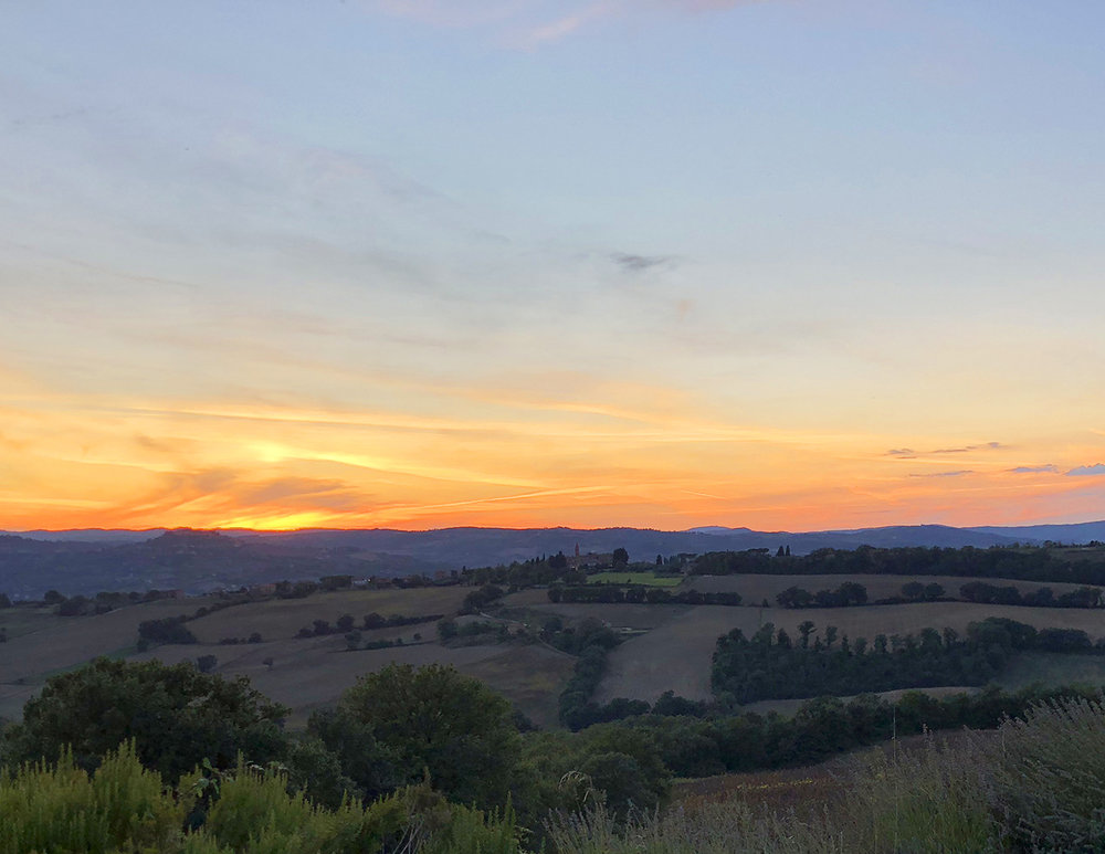 Sunset from Todi, Italy