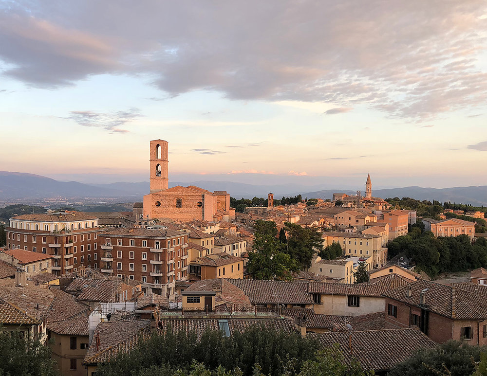 Dusk over Perugia, Italy
