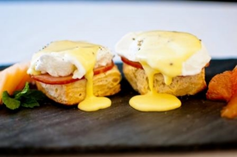 Try substituting a Cream Cheese Biscuit for an English Muffin for your Eggs Benedict.