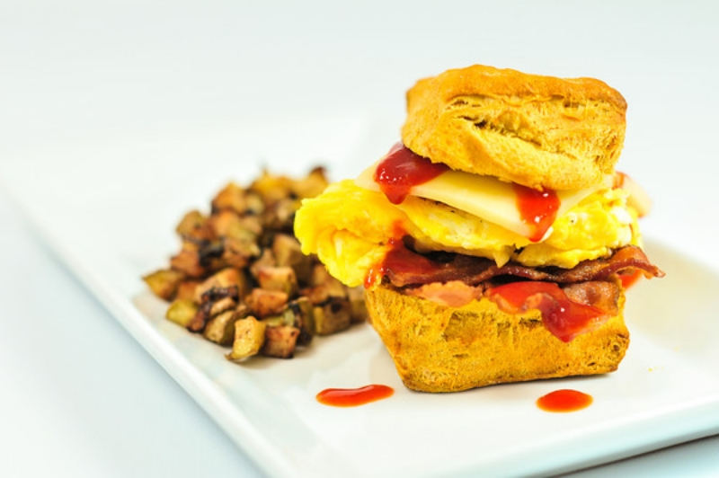 Tiger Biscuits - Sweet Potato Breakfast Sandwiches