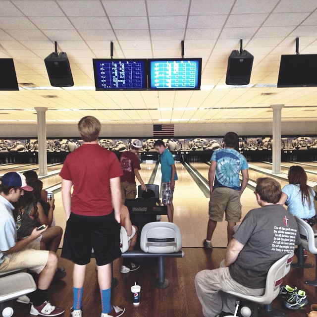 This is how we bowl  8.17.14 #alivestudents