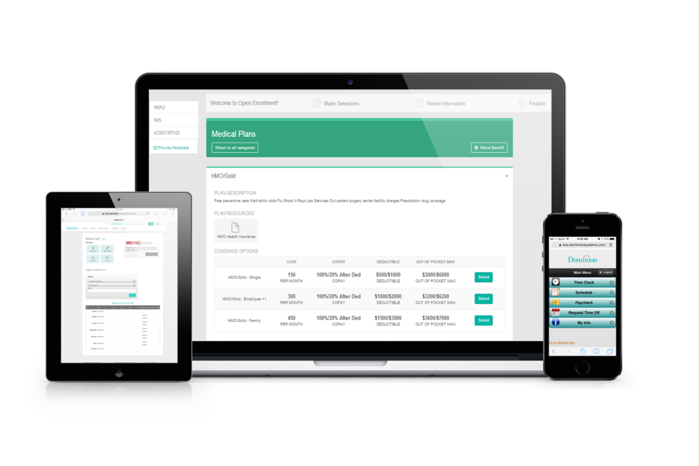 Empower your employees with our employee self service portal.