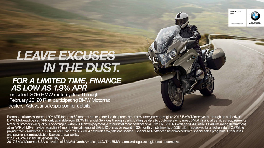 NOTE: tHE 1.9% aPR APPLIES TO 2016 MODEL YEAR BMW'S
