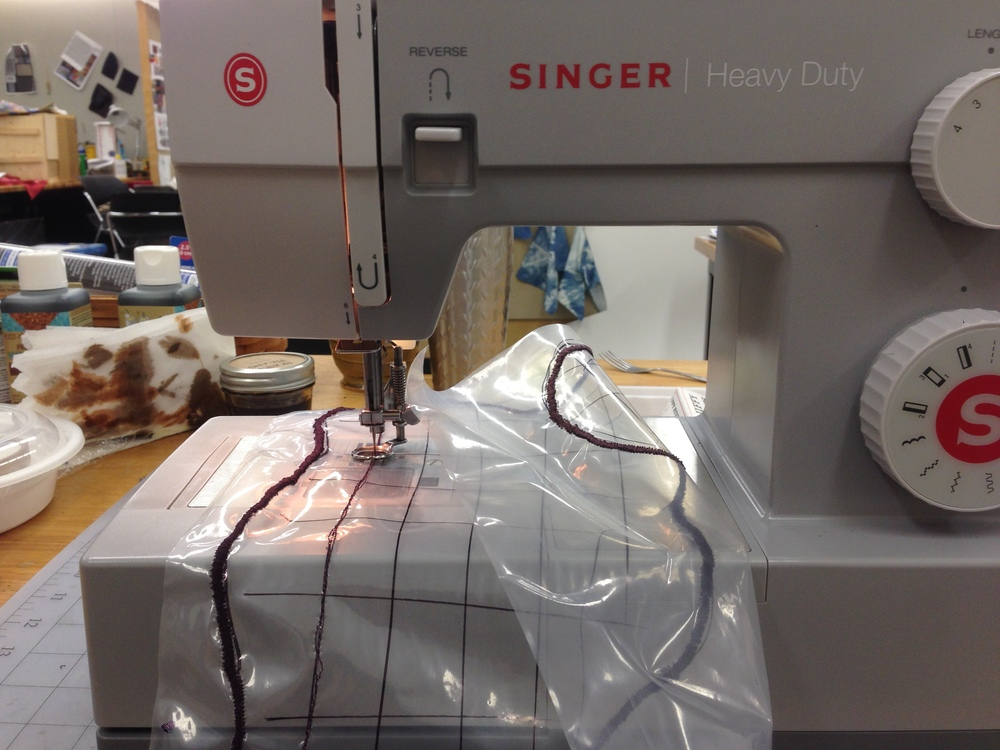 Machine Embroidering on Solvy