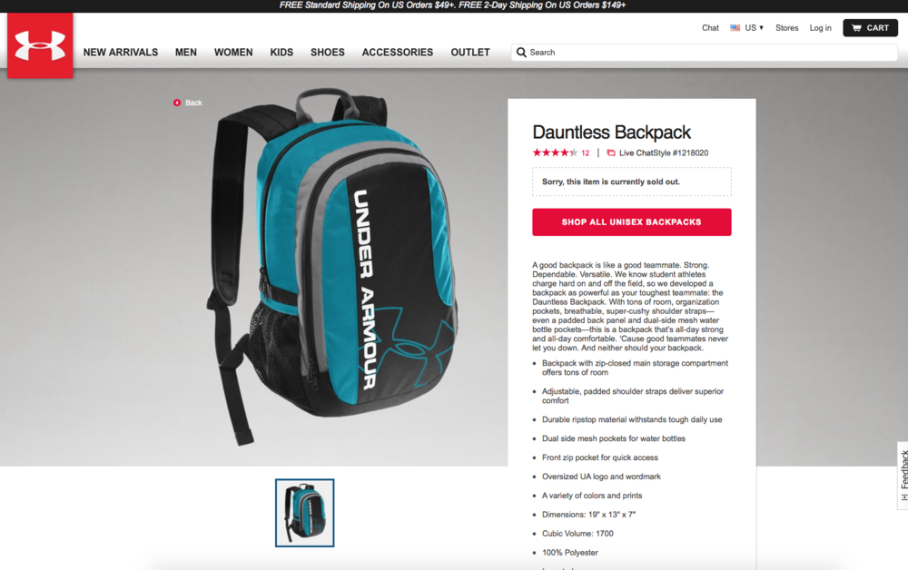 new ua dauntless backpack screen shot.png