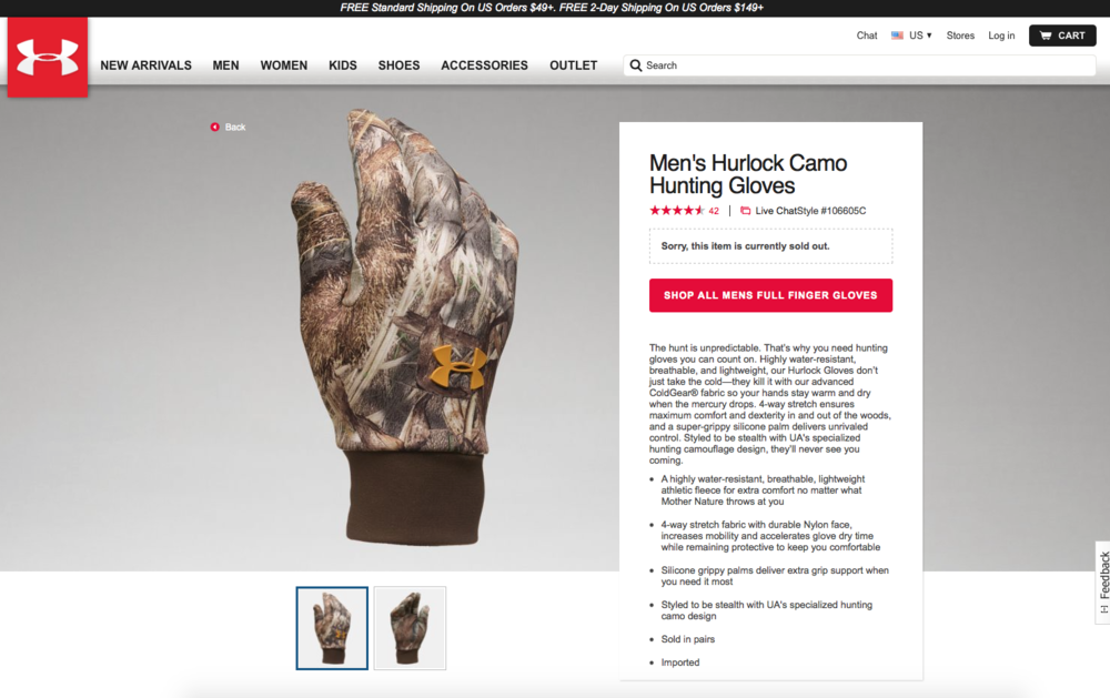 new ua hurlock hunting gloves screen shot.png