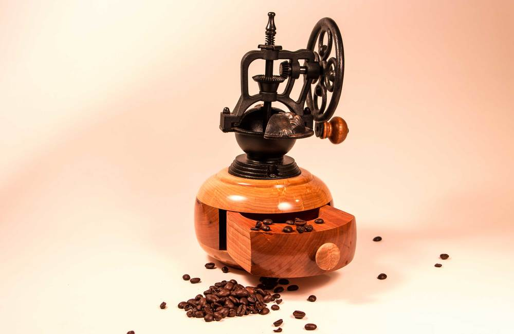 Wood Coffee Grinder